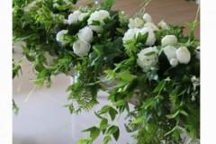 girlanda sztuczna zielono-biała 200 cm, wynajem 130 zł