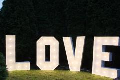 napis świetlny LOVE duży 120 cm - 300 zł z dojazdem i montażem na terenie Bydgoszczy; poza Bydgoszczą dojazd liczony indywidualnie
