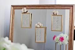 wypożyczenie lustra na plan stołów (rozmieszczenie gości 30 zł, wypożyczenie ramek 5 zł/szt (dostępne 20 szt)