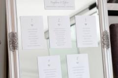 srebrne lustro zdobione pod plan stołów 50 zł